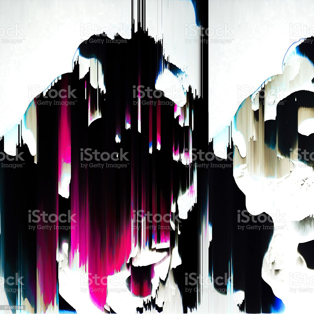 Distorted Digital Noise Texture Abstract Art Background stock photo