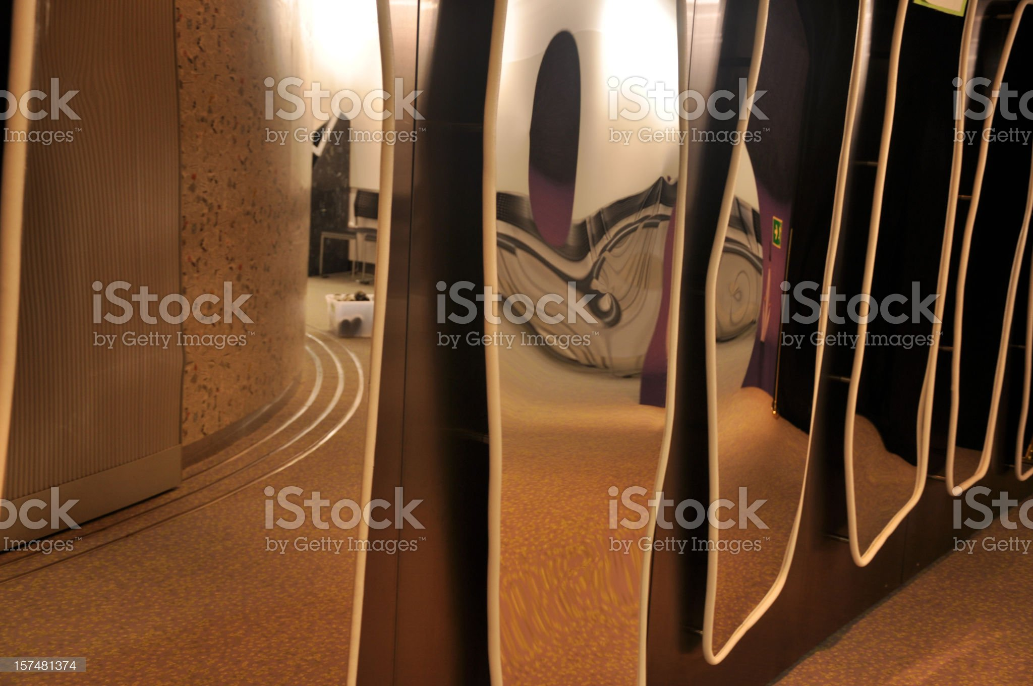 Distorted / Distorting Mirror royalty-free stock photo