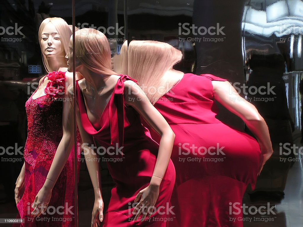 Distorted mannequin stock photo