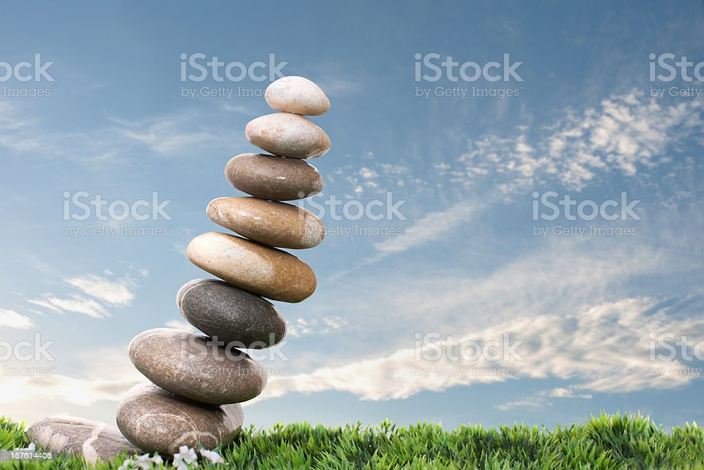 distorted the balance of nature royalty-free stock photo