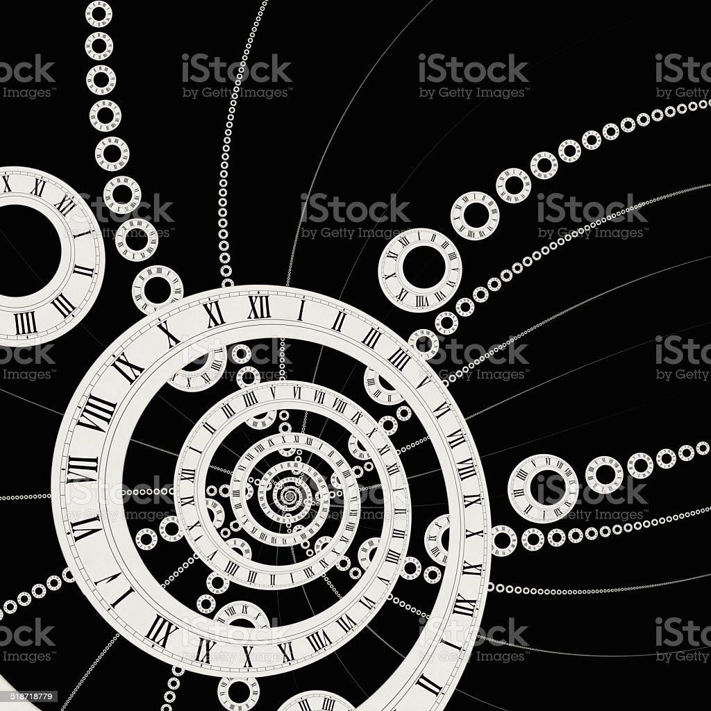 Distorted Time stock photo
