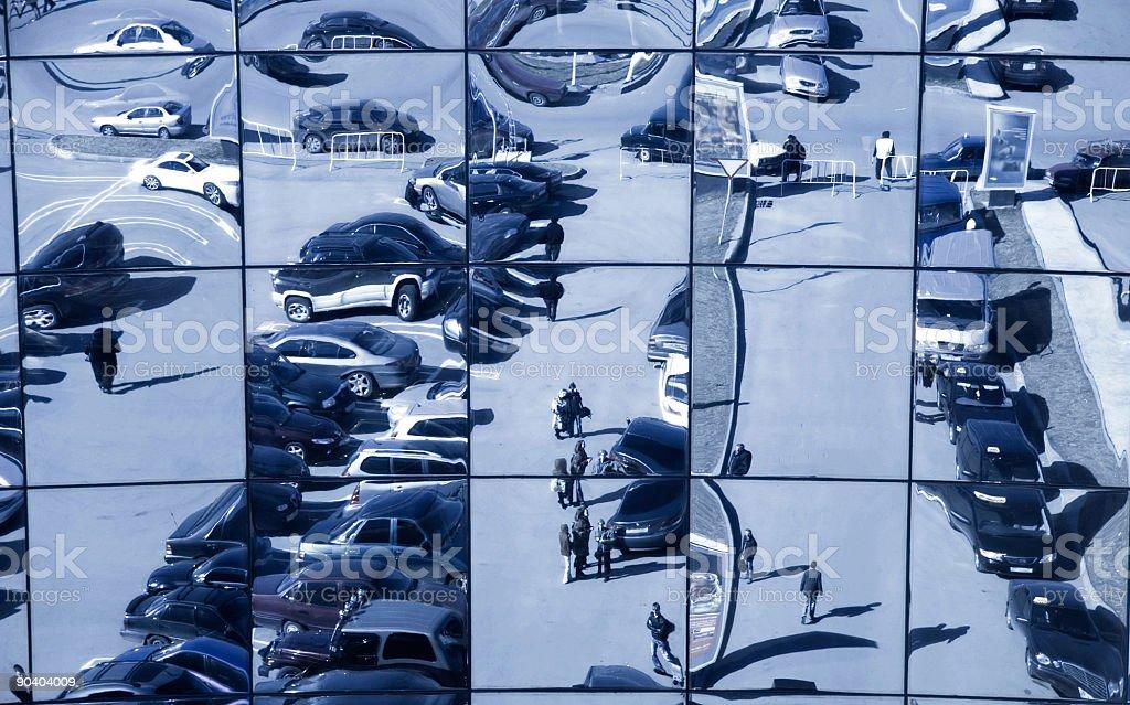 Distorting reflection royalty-free stock photo