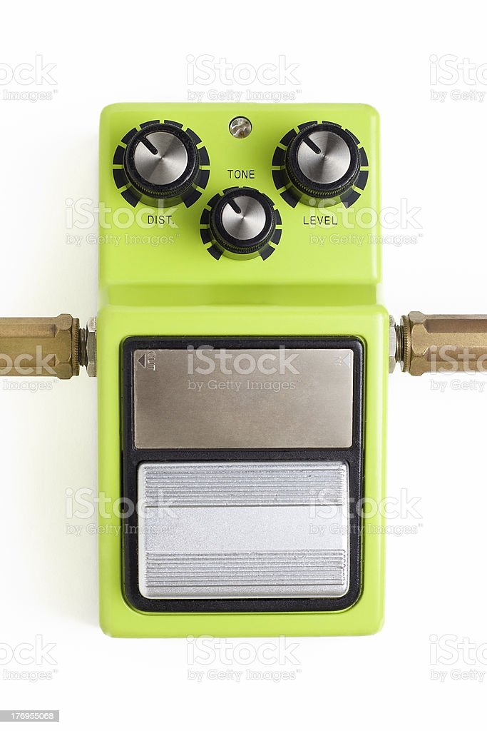 Distortion efx pedal stock photo