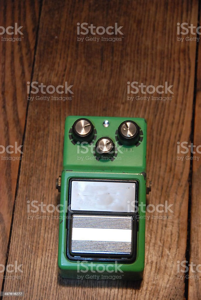 Distortion pedal stock photo