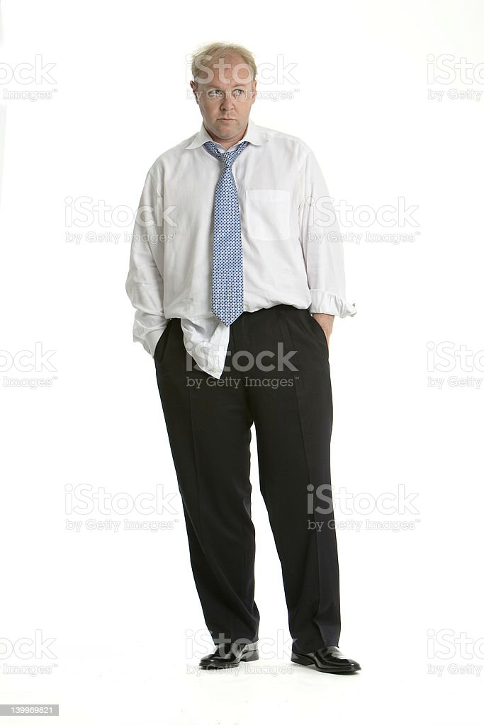 Distracted and rumpled business man royalty-free stock photo
