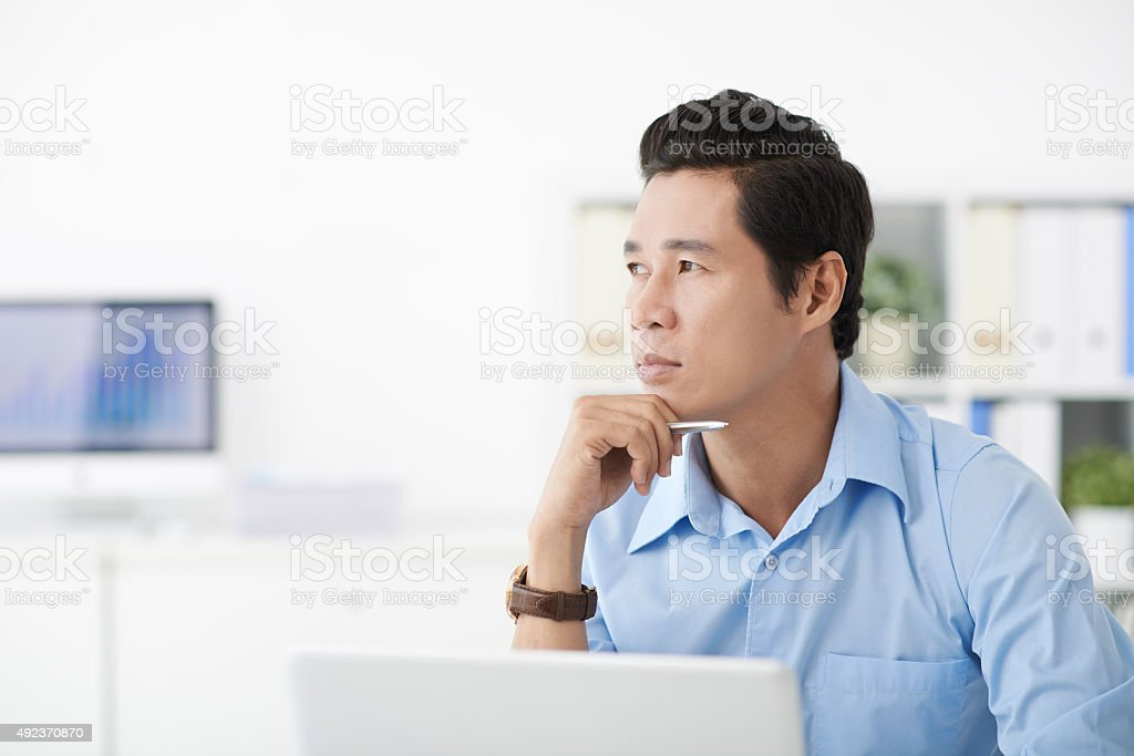 Distracted businessman stock photo