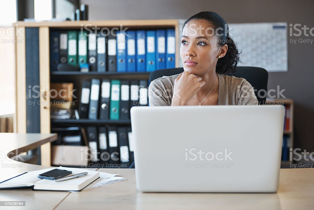 Distracted by the world outside stock photo