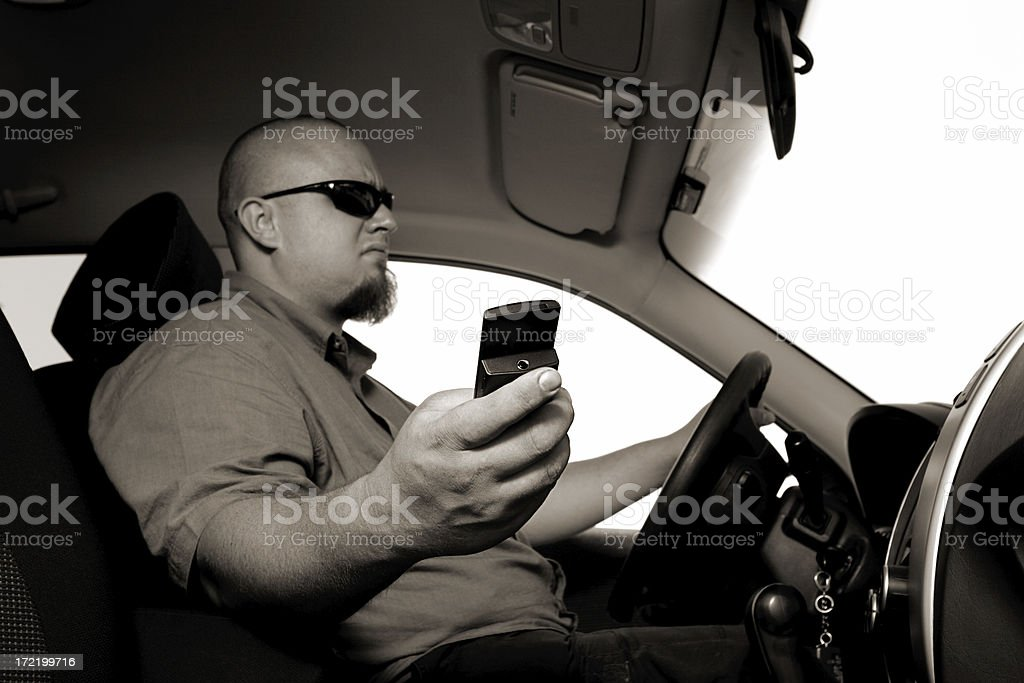 Distracted Driver royalty-free stock photo