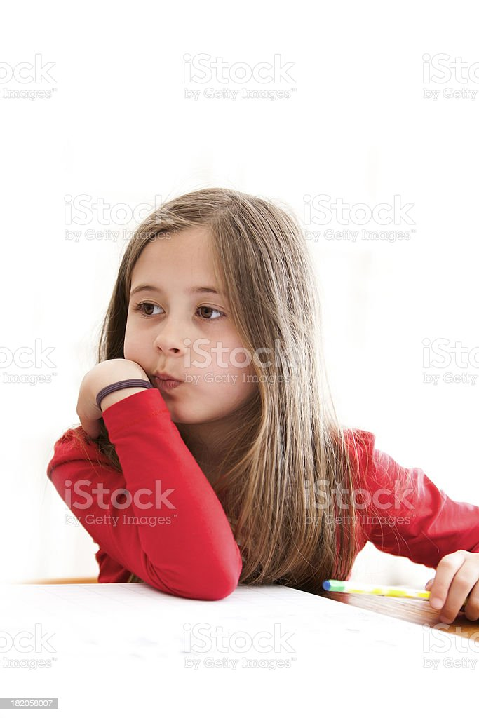 Distracted girl royalty-free stock photo