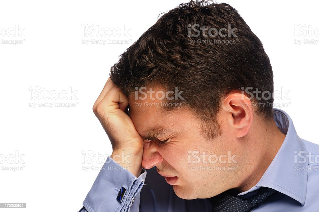 Distraught Business Man royalty-free stock photo