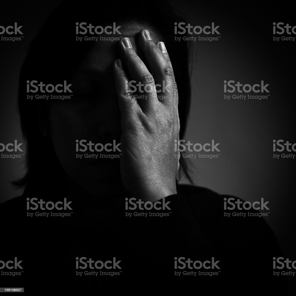 distraught stock photo