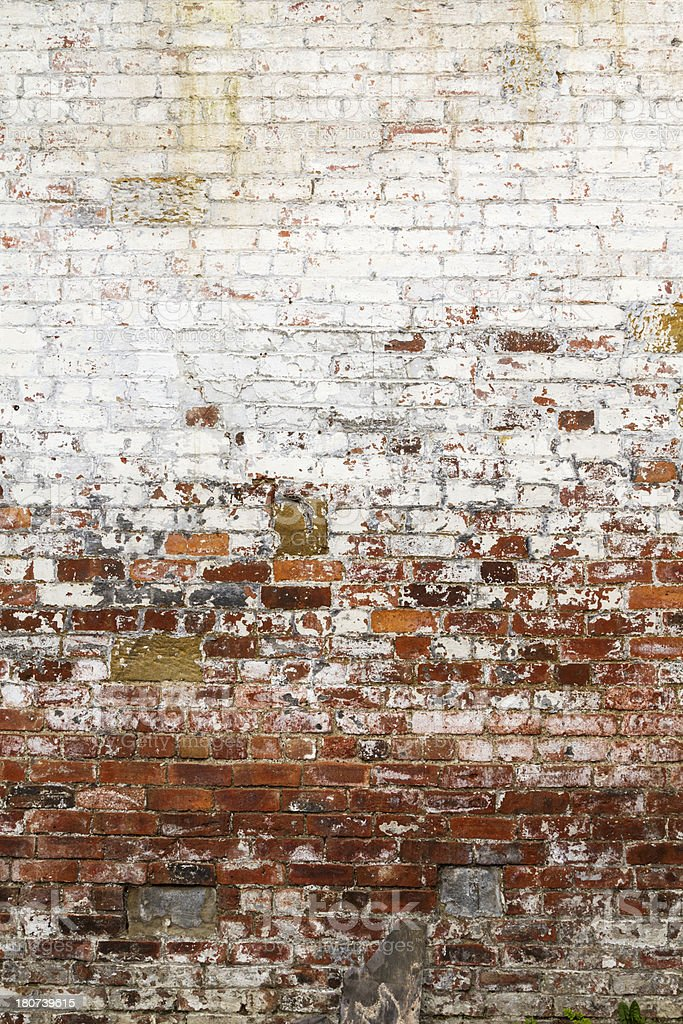 Distressed brick wall royalty-free stock photo