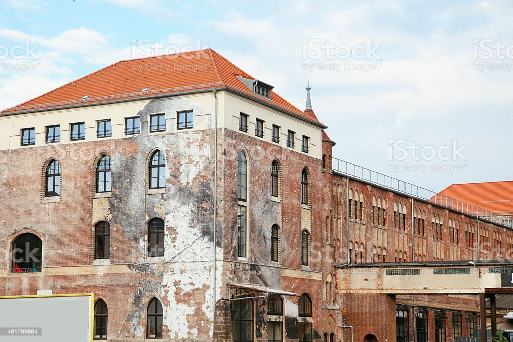 Distressed building in East Berlin stock photo