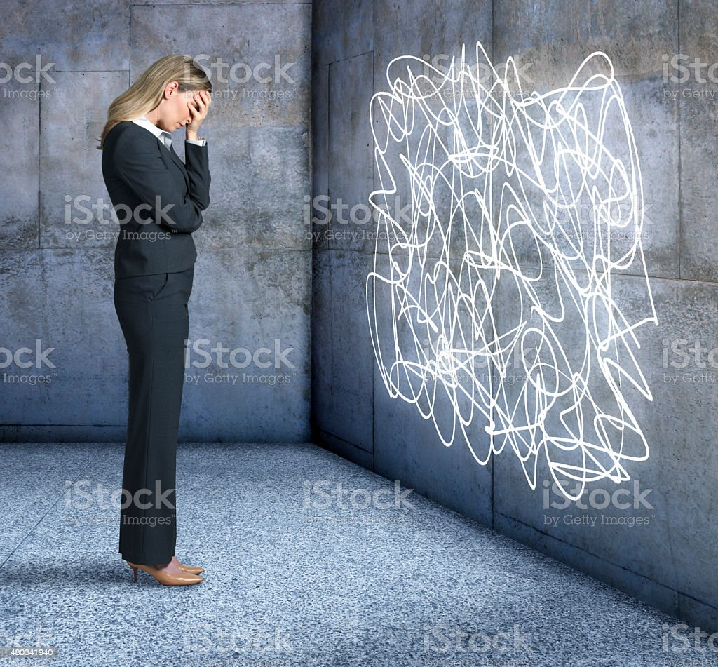 Distressed Businesswoman stock photo