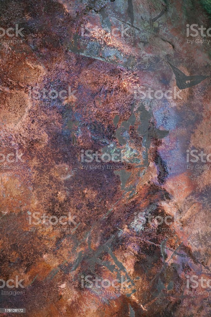 Distressed Copper Texture Background royalty-free stock photo