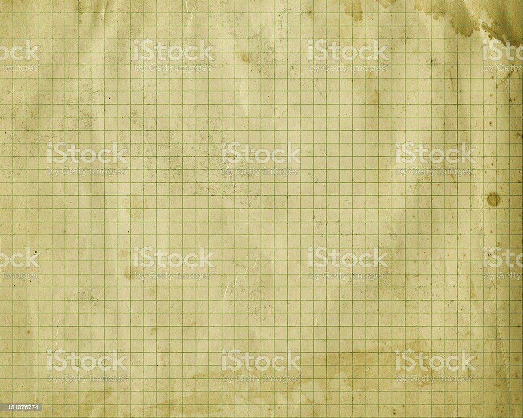 distressed green graph paper royalty-free stock photo