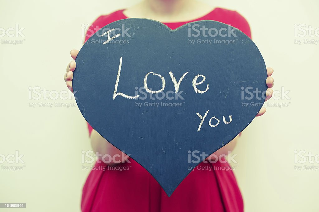 Distressed I Love You Heart Sign royalty-free stock photo
