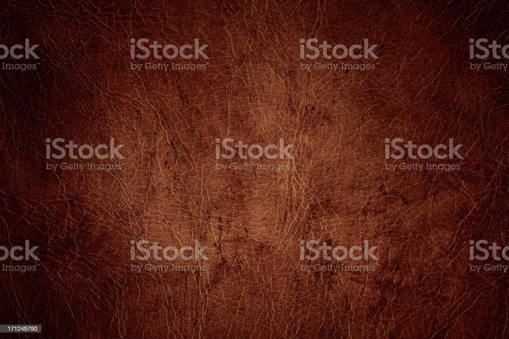 Distressed Leather With Heavy Vignette stock photo