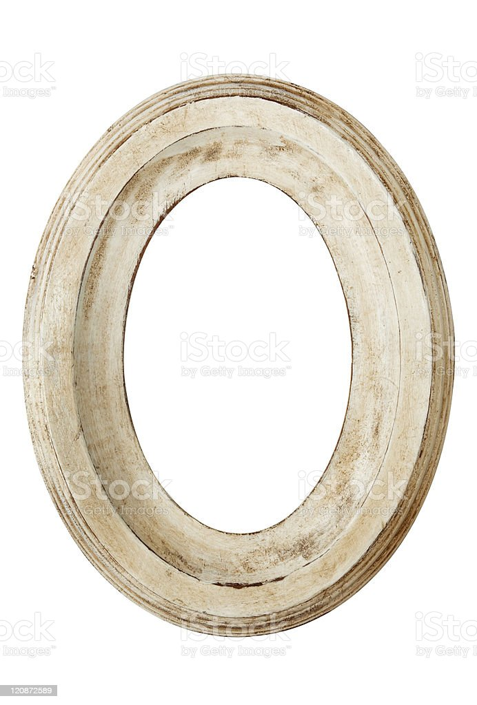 Distressed Oval Picture Frame royalty-free stock photo