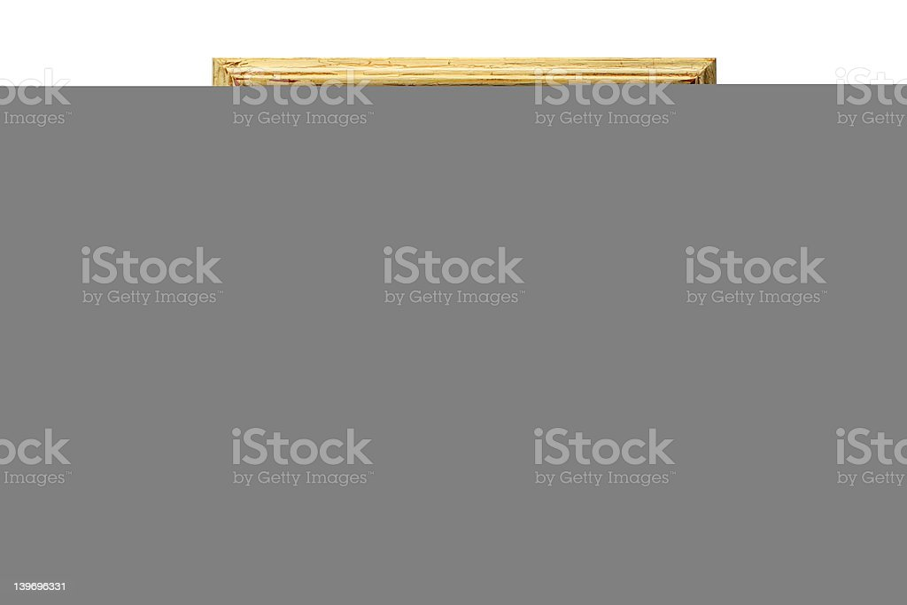 Distressed paint frame royalty-free stock photo