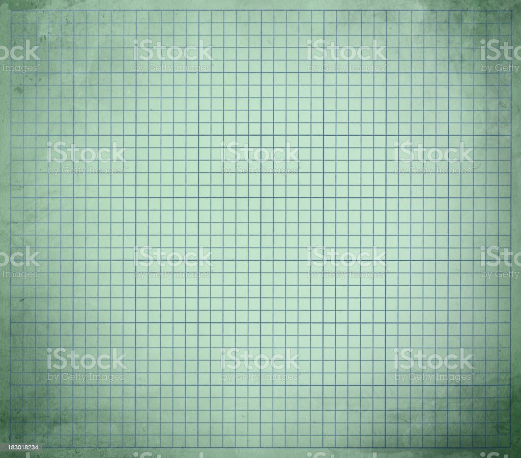 distressed pale green graph paper royalty-free stock photo