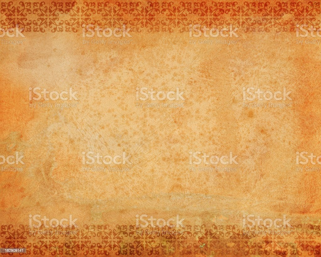 distressed paper with border royalty-free stock photo