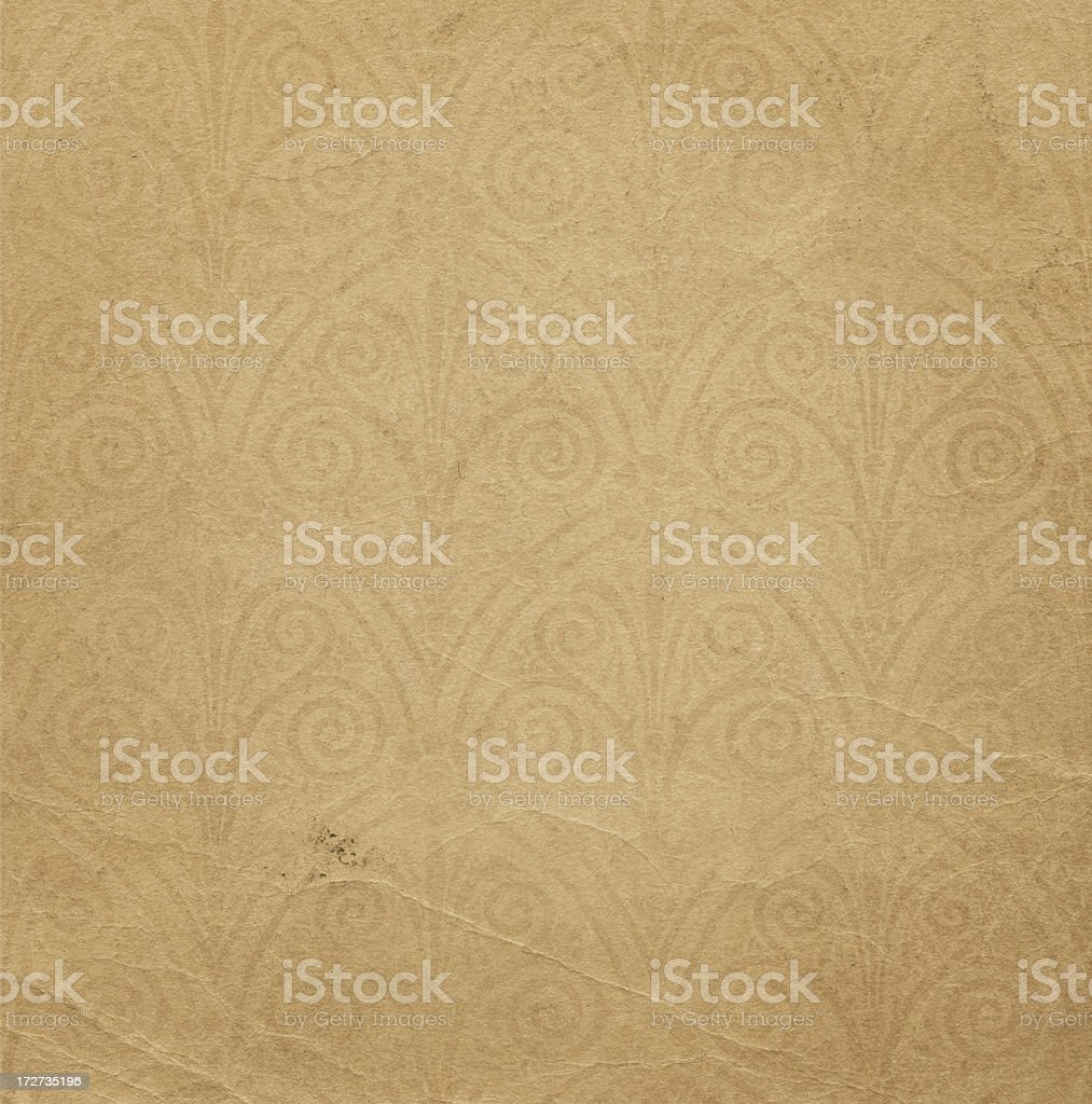 High resolution distressed paper with classic watermark stock photo