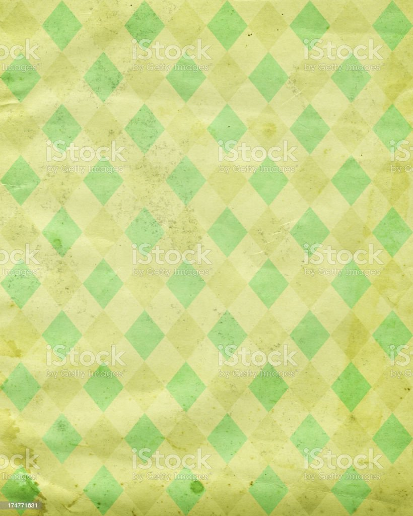 distressed paper with diamond pattern royalty-free stock photo