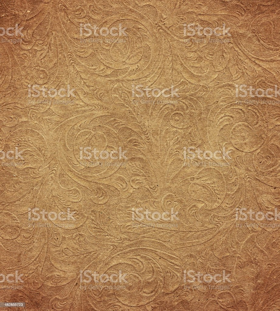 distressed paper with floral pattern stock photo
