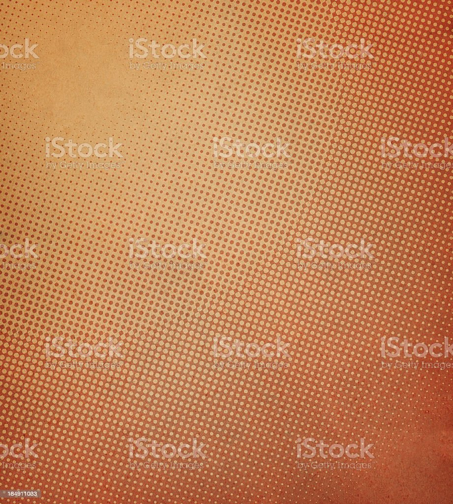 High resolution distressed paper with halftone vector art illustration