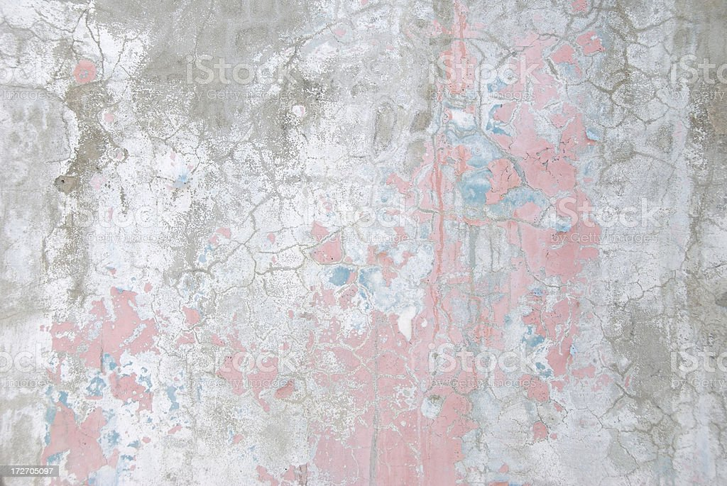 Distressed Pink Faded White Grunge Wall royalty-free stock photo