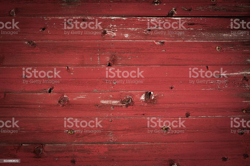 distressed red wood wall planks stock photo