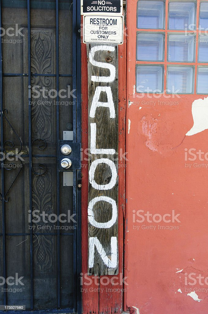 Distressed Saloon Sign royalty-free stock photo