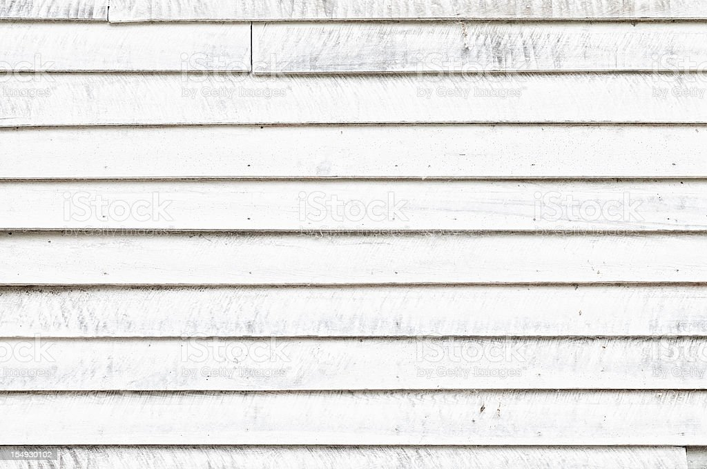 Distressed White Wooden Wall stock photo