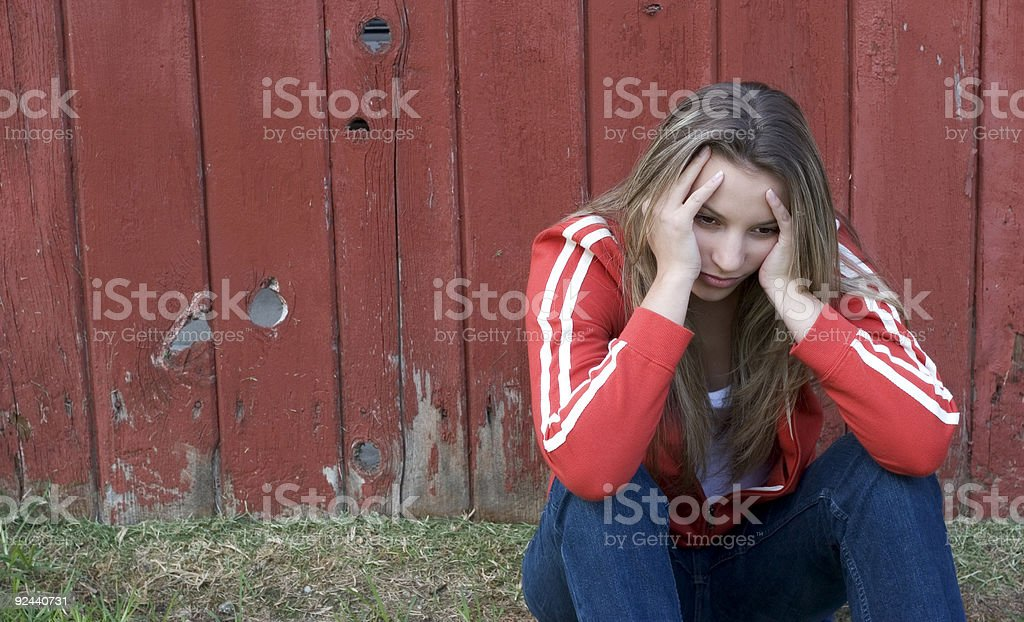 Distressed Woman royalty-free stock photo