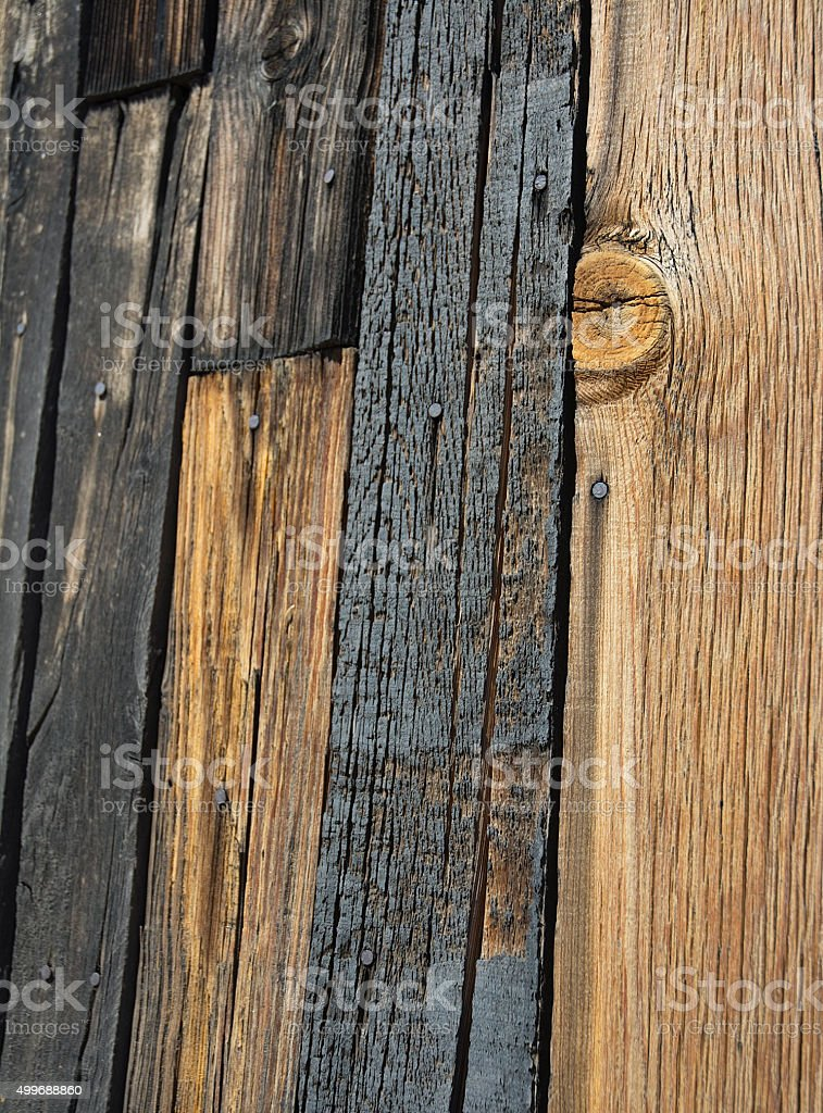 Distressed Wood Barn Fence Boards stock photo