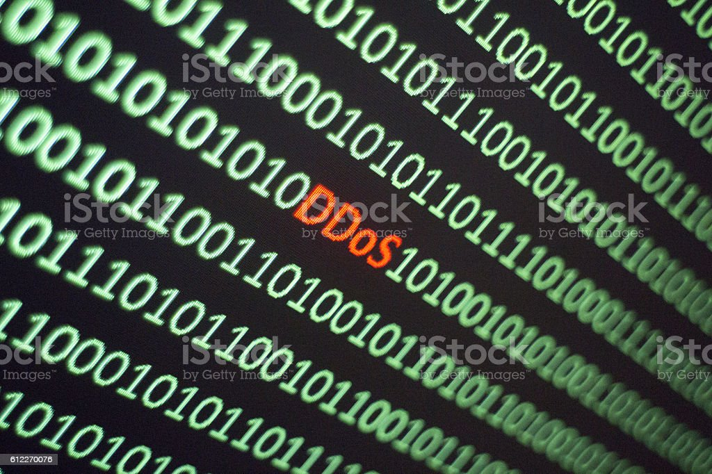 Distributed denial-of-service DDoS stock photo