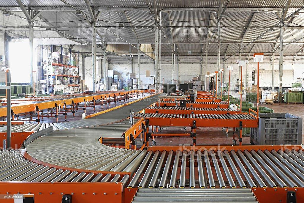 Distribution sorting stock photo
