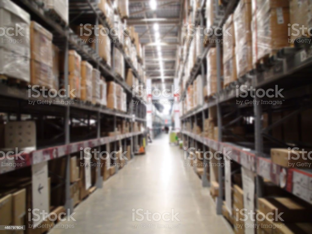 Distribution warehouse stock photo