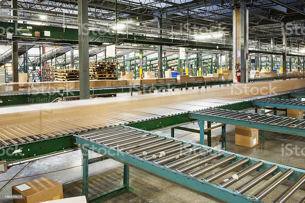Distribution warehouse. Shipping, receiving and Logistics stock photo