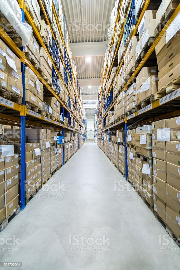 Distribution warehouse/center stock photo