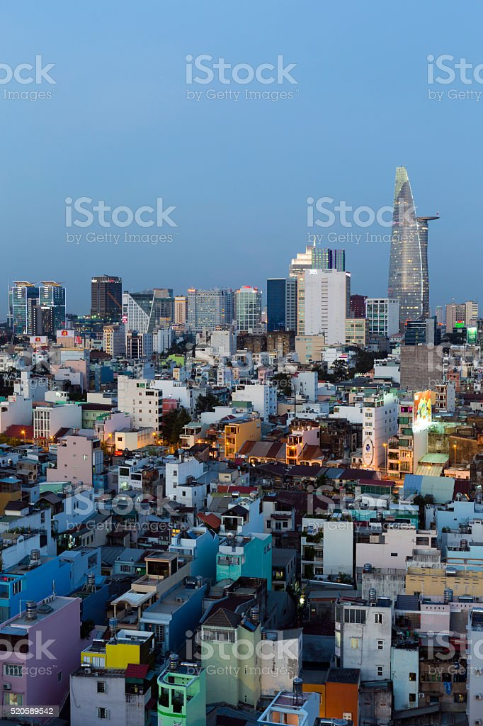 District 1 Ho Chi Minh City stock photo