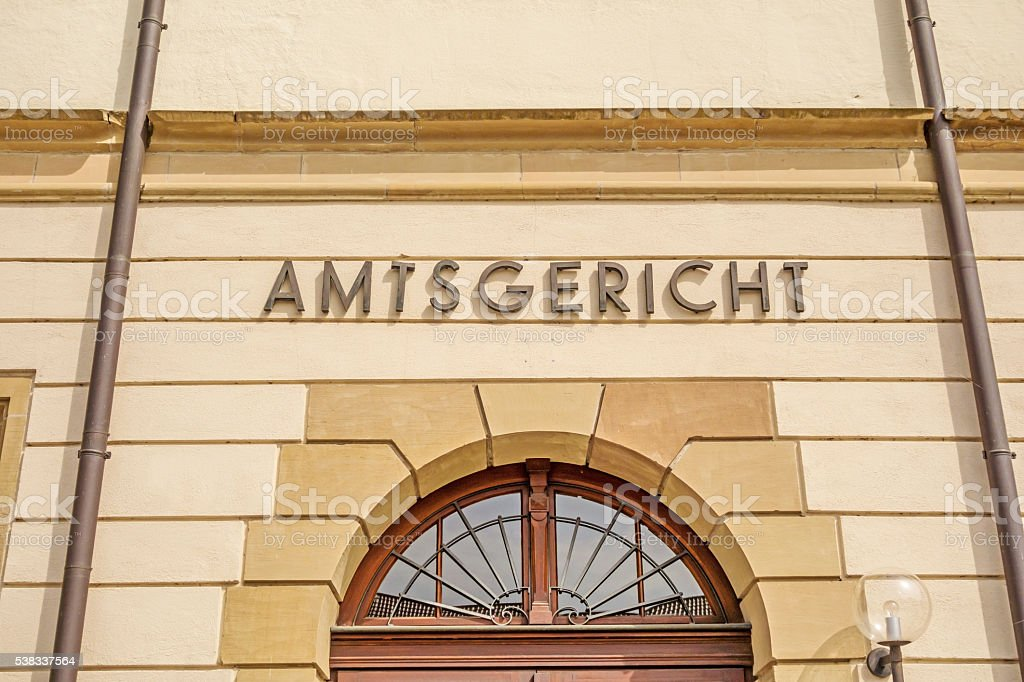 District court / Amtsgericht stock photo