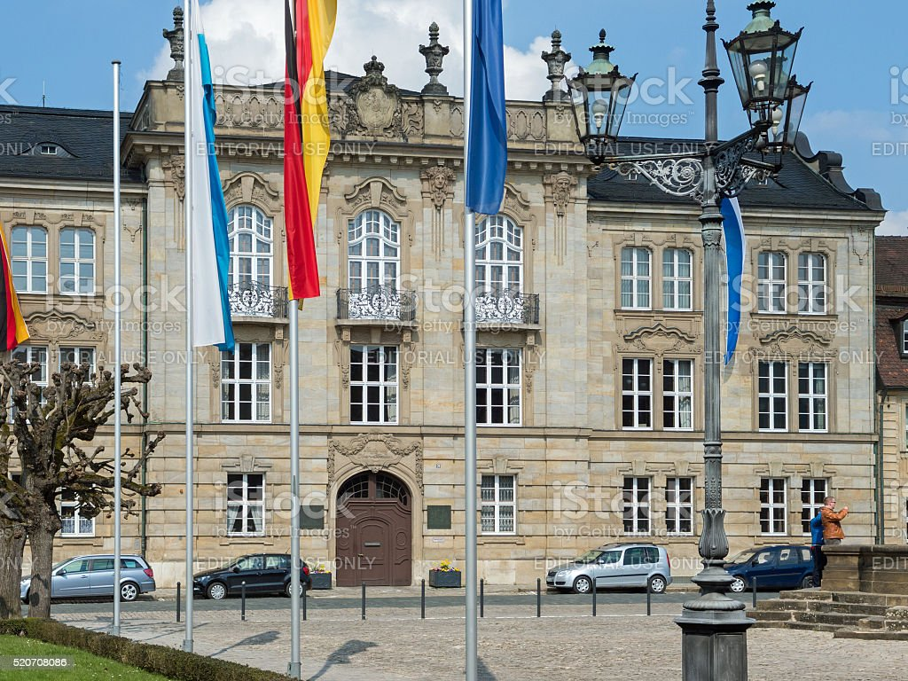 District Government of Upper Franconia in the city Bayreuth stock photo