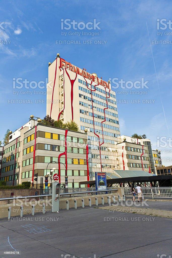 District heating Vienna of Hundertwasser forms stock photo
