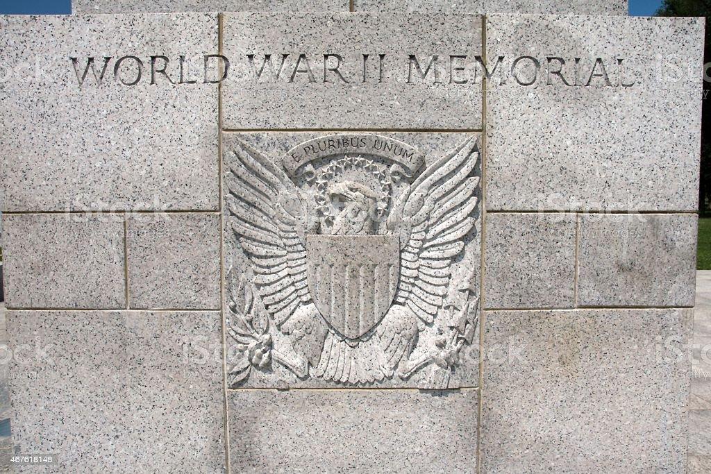 USA - District of Columbia, Washington, World War II Memorial stock photo