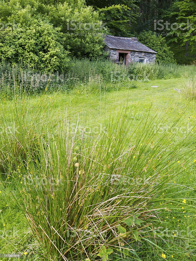 Disused barn stock photo