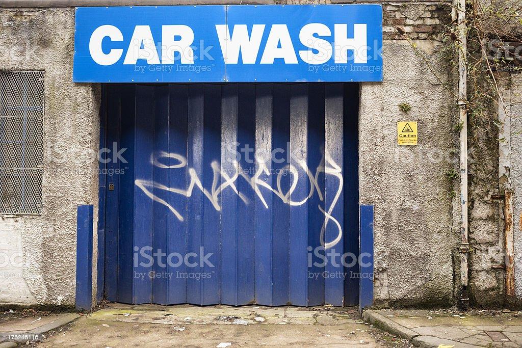 Disused Car Wash royalty-free stock photo