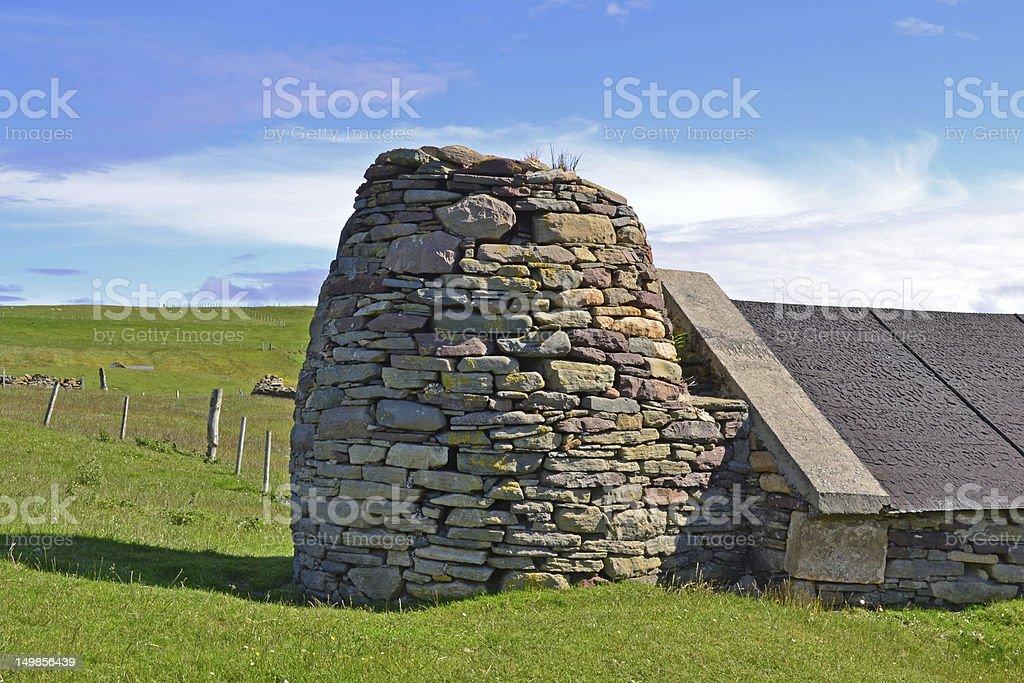 Disused Crop Drying Kiln, Shetland stock photo