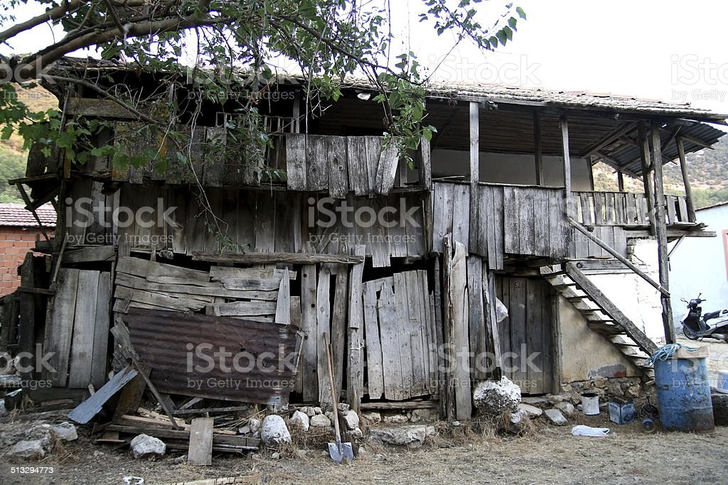 Disused house stock photo